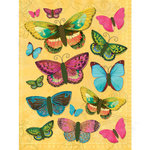 K and Company - Serendipity Collection - Grand Adhesions Stickers - Butterfly, CLEARANCE