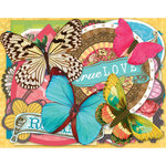 K and Company - Serendipity Collection - Die Cut Cardstock Pieces - Tags and Shapes, BRAND NEW