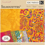 K and Company - Handmade Collection - 12 x 12 Silhouettes Die Cut Paper Pack - Viola Vita, BRAND NEW