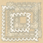K and Company - Handmade Collection - Fabric Art - Lace Frames, CLEARANCE