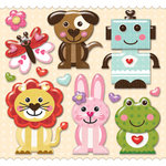 K and Company - Ka-Zoo Valentine Collection - Layered Clearly Yours - Animals, CLEARANCE