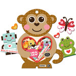 K and Company - Ka-Zoo Valentine Collection - Chipboard Box - Monkey