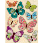 K and Company - Jubilee Collection - Grand Adhesions Stickers with Glitter and Gem Accents - Butterfly, CLEARANCE