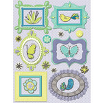K and Company - PoppySeed Collection - Grand Adhesions Stickers - Frames