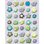K and Company - PoppySeed Collection - Pillow Stickers - Floral, CLEARANCE