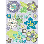 K and Company - PoppySeed Collection - Grand Adhesions Stickers with Gem Accents - Floral, CLEARANCE