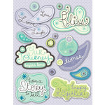 K and Company - PoppySeed Collection - Grand Adhesions Stickers with Glitter Accents - Words