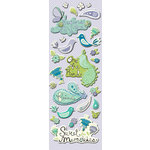 K and Company - PoppySeed Collection - Adhesive Chipboard with Glitter and Gem Accents - Icons