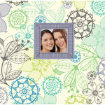 K and Company - Simply K - 12 x 12 Scrapbook Album - PoppySeed