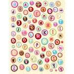 K and Company - Confetti Collection - Clearly Yours - Epoxy Stickers - Alphabet, CLEARANCE