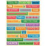 K and Company - Confetti Collection - Pillow Stickers - Word, CLEARANCE