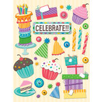 K and Company - Confetti Collection - Grand Adhesions with Glitter Accents - Birthday Icon, CLEARANCE