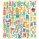 K and Company - Confetti Collection - Die Cut Glitter Stickers - Alphabet