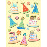 K and Company - Confetti Collection - Pillow Stickers with Glitter Accents, CLEARANCE