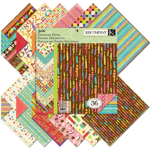 K and Company - Confetti Collection - 12 x 12 Designer Paper Pad, CLEARANCE