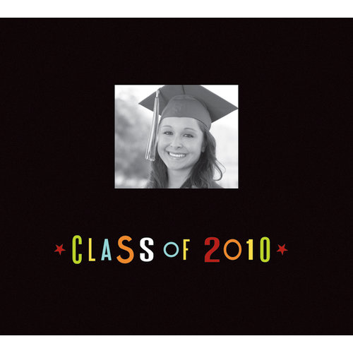K and Company - Graduation Collection - 12 x 12 Scrapbook Album - Class Of 2010 - Black