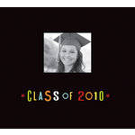 K and Company - Graduation Collection - 12 x 12 Scrapbook Album - Class Of 2010 - Black