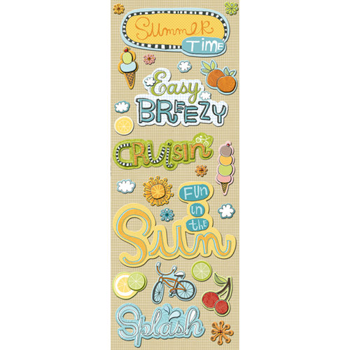 K and Company - Handmade Collection - Adhesive Chipboard - Summer, BRAND NEW