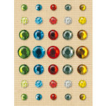 K and Company - Handmade Collection - Adhesive Gems, CLEARANCE