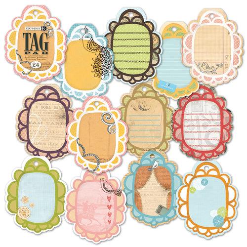 K and Company - Handmade Collection - Tag Pad - Viola Vita