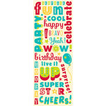 K and Company - Confetti Collection - Glitter Stickers - Words