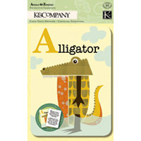 K and Company - Actopus to Zelephant Collection - Animal Alphabet Cards, CLEARANCE
