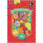 K and Company - Confetti Collection - Chipboard Box - Alphabet, CLEARANCE