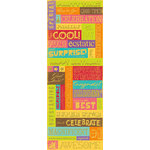 K and Company - Confetti Collection - Embossed Stickers with Foil Accents