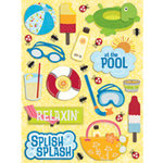 K and Company - Citronella Collection - Grand Adhesions Stickers - Water Fun Pool