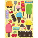 K and Company - Citronella Collection - Grand Adhesions Stickers - Ice Cream, CLEARANCE
