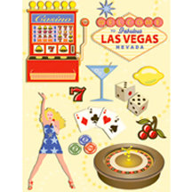 K and Company - Happy Trails Collection - Grand Adhesions Stickers - Las Vegas