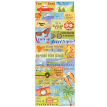 K and Company - Happy Trails Collection - Embossed Stickers - Words, CLEARANCE