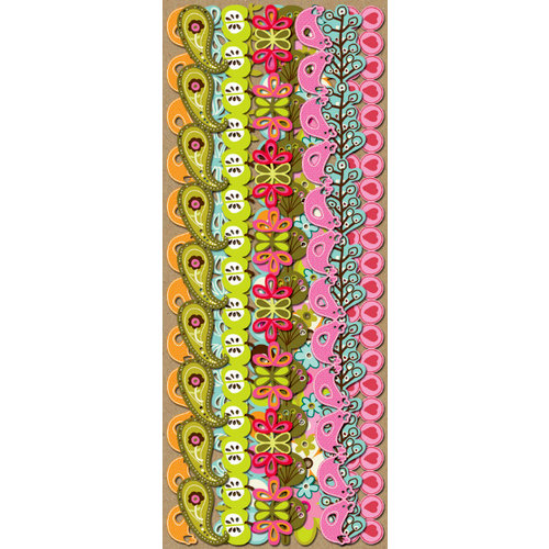 K and Company - Greenhouse Collection - Adhesive Paper Borders
