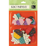 K and Company - Layered Accents with Glitter Accents - Cupcake, CLEARANCE