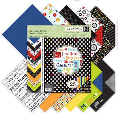 K and Company - Graduation Collection - 12 x 12 Specialty Paper Pad