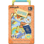 K and Company - Happy Trails Collection - Chipboard Box - Words and Icons, CLEARANCE