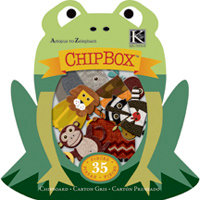 K and Company - Actopus to Zelephant Collection - Chipboard Box - Animals, CLEARANCE