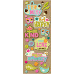 K and Company - Greenhouse Collection - Adhesive Chipboard - Phrases and Icons, CLEARANCE