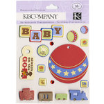 K and Company - 3 Dimensional Stickers with Gem Accents - Baby Fun