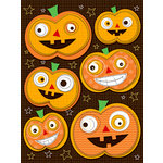 K and Company - Spooktacular Collection - Grand Adhesions Stickers with Epoxy Accents - Jack O'Lantern