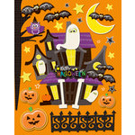 K and Company - Spooktacular Collection - Grand Adhesions Stickers with Epoxy and Glitter Accents - Haunted House, CLEARANCE