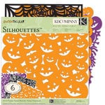 K and Company - Spooktacular Collection - 12 x 12 Silhouettes Die Cut Paper Pack with Glitter Accents