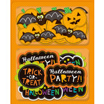 K and Company - Spooktacular Collection - Layered Accents with Glitter Accents - Words and Pumpkins, CLEARANCE