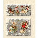 K and Company - Yuletide Collection - Christmas - Layered Accents with Glitter Accents - Medallion