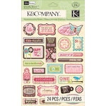 K and Company - Blossom Collection - Clearly Yours - Epoxy Stickers - Word
