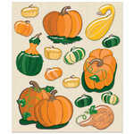 K and Company - Life's Little Occasions Collection - 3 Dimensional Stickers  with  Puffy Accents - Pumpkin and Squash