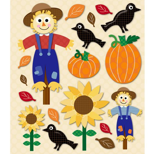 K and Company - Life's Little Occasions Collection - 3 Dimensional Stickers with Epoxy Accents - Scarecrow