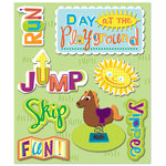 K and Company - Life's Little Occasions Collection - 3 Dimensional Stickers with Epoxy and Varnish Accents - Playground, CLEARANCE
