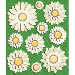 K and Company - Life's Little Occasions Collection - 3 Dimensional Stickers  with  Epoxy and Glitter Accents - Daisies