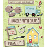 K and Company - Life's Little Occasions Collection - 3 Dimensional Stickers with Glitter and Puffy Accents - Moving In